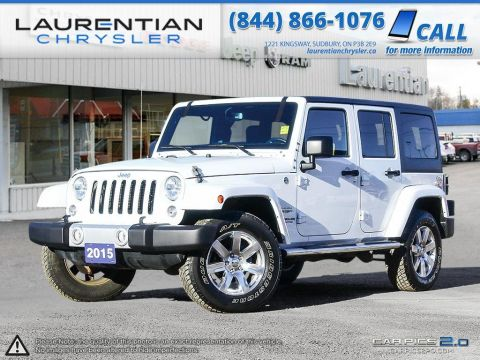 Pre-Owned 2015 Jeep Wrangler Unlimited Sahara-NAVIGATION, BLUETOOTH, HEATED SEATS!! 4WD