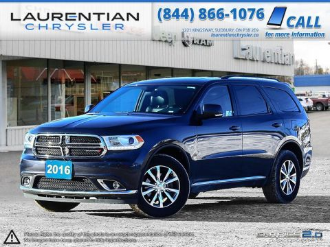 Pre-Owned 2016 Dodge Durango Limited-HEATED WHEEL! BLUETOOTH! BACKUP CAM! 3RD ROW SEATS! AWD