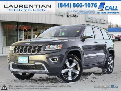 Pre-Owned 2015 Jeep Grand Cherokee Limited-NAVIGATION, LEATHER, SUNROOF, BLUETOOTH!! 4WD