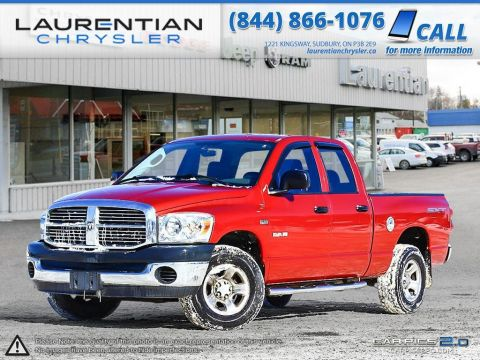Pre-Owned 2008 Dodge Ram 1500 SLT- SELF CERTIFY- Four Wheel Drive Quad Cab Pickup