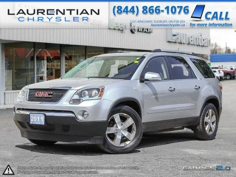Pre-Owned 2011 GMC Acadia -4WD, SEATS 7, HEATED LEATHER SEATS, BACK-UP CAM, NO ACCIDENTS! All Wheel Drive Sport Utility