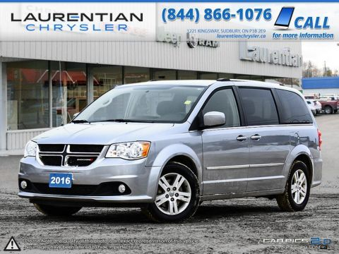 Pre-Owned 2016 Dodge Grand Caravan Crew-STOW'N'GO SEATS, REAR HEAT, HEATED MIRRORS!! Front Wheel Drive Mini-van, Passenger