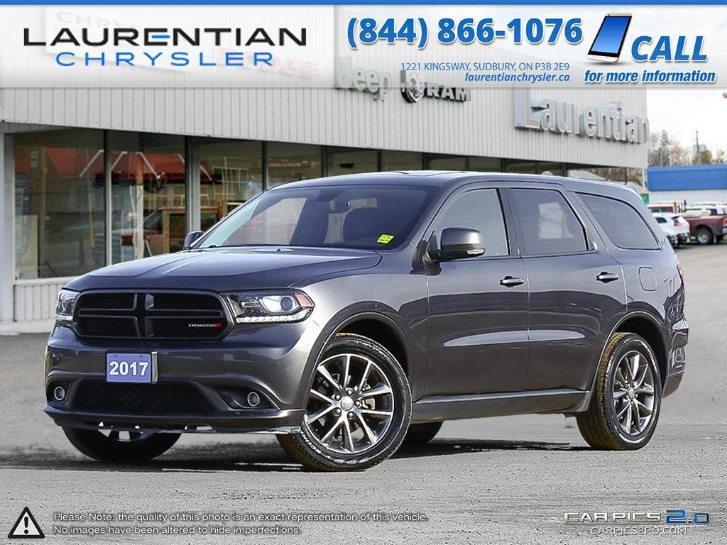 Pre-Owned 2017 Dodge Durango GT-7 PASSENGER SEATING, BLUETOOTH, LEATHER!!!