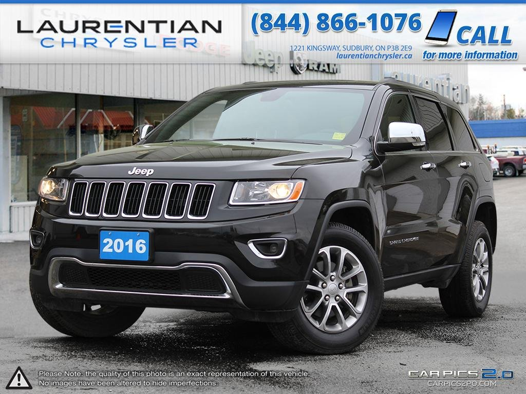 pre owned 2016 jeep grand cherokee limited sport utility in sudbury stk laurentian chrysler. Black Bedroom Furniture Sets. Home Design Ideas