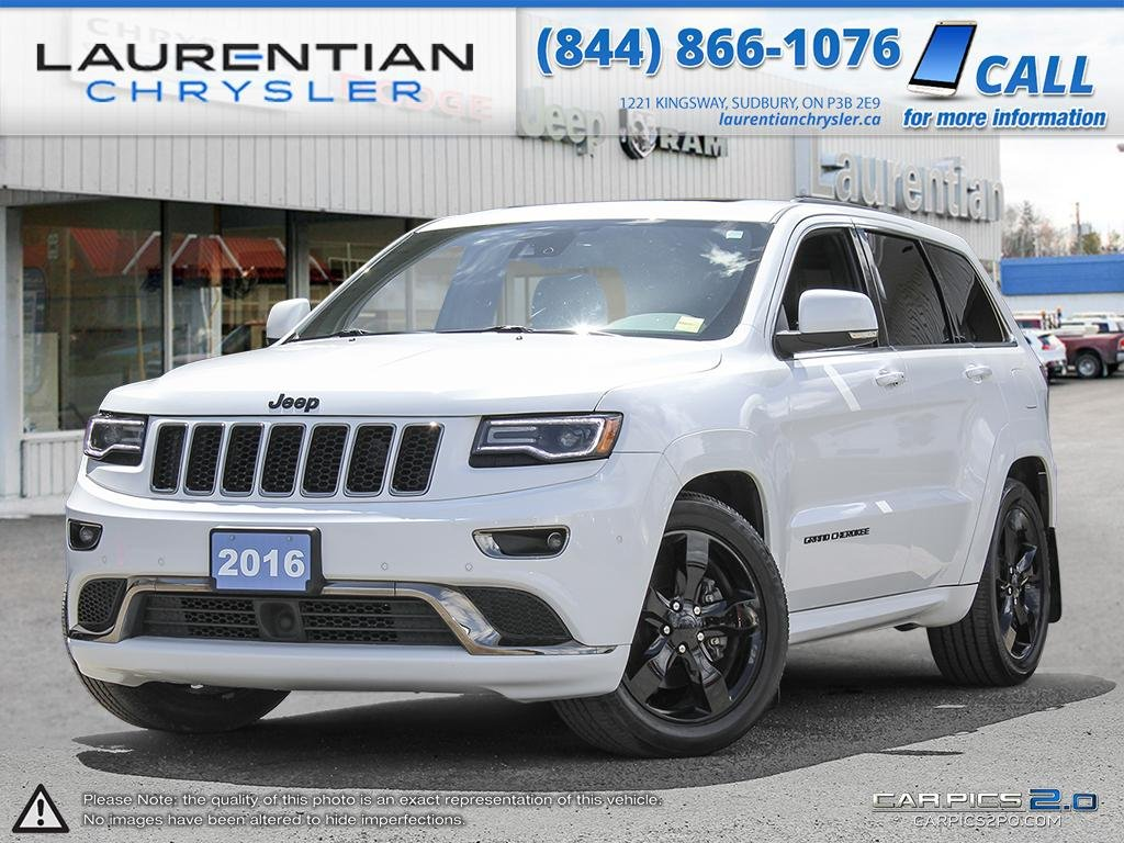 pre owned 2016 jeep grand cherokee overland eco diesel sport utility in sudbury 17424a. Black Bedroom Furniture Sets. Home Design Ideas
